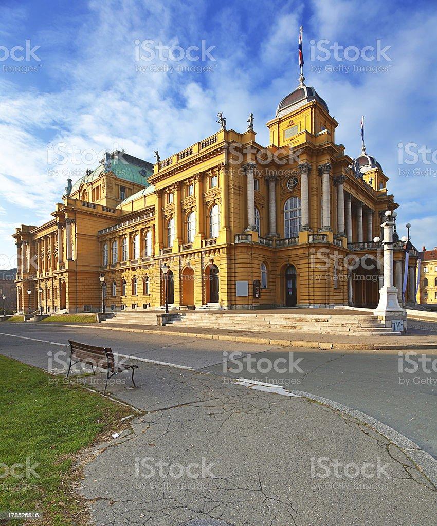 Croatian National Theater, Zagreb stock photo