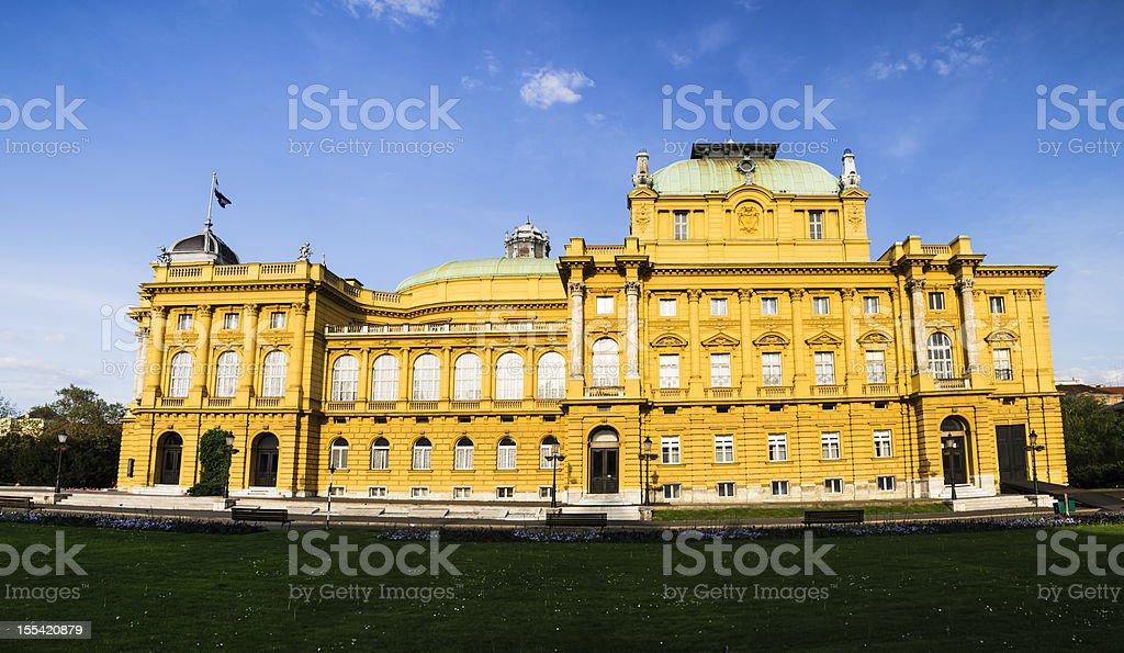 Croatian National Theatre, Zagreb royalty-free stock photo