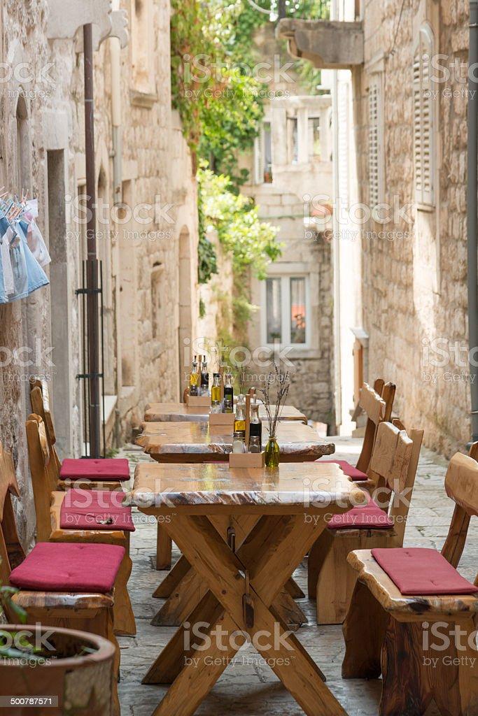 Croatian restaurant stock photo