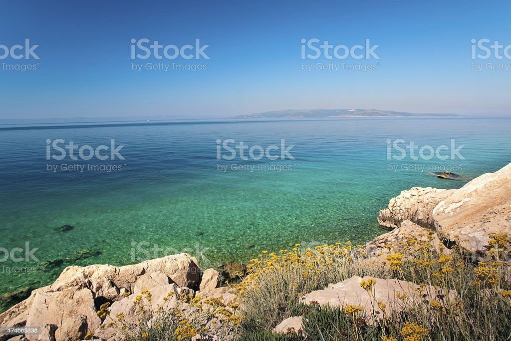 Croatian seascape royalty-free stock photo