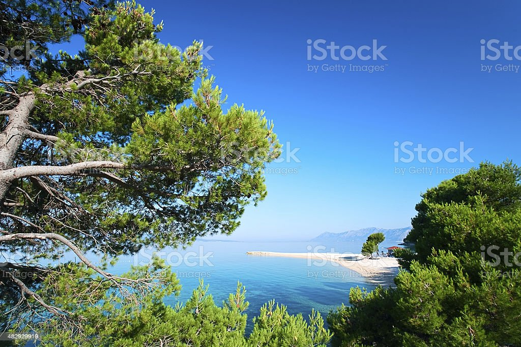 Croatian seascape stock photo