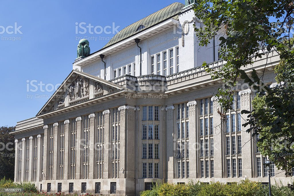 Croatian State Archives building royalty-free stock photo