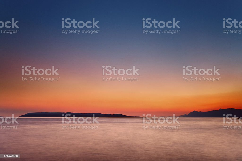 Croatian sunset royalty-free stock photo