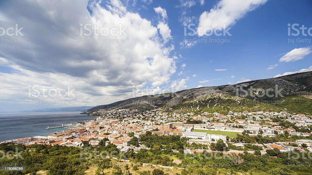 Croatian town Senj stock photo