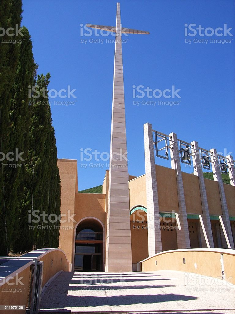 Croce - Chiesa di Padre Pio stock photo