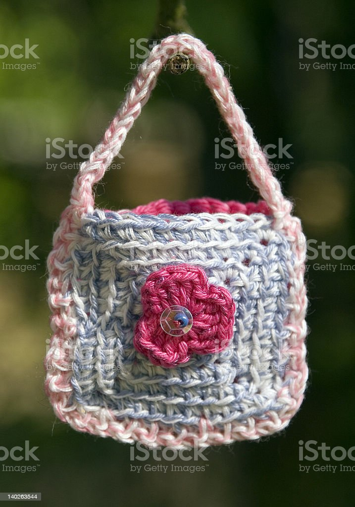 crocher bag royalty-free stock photo
