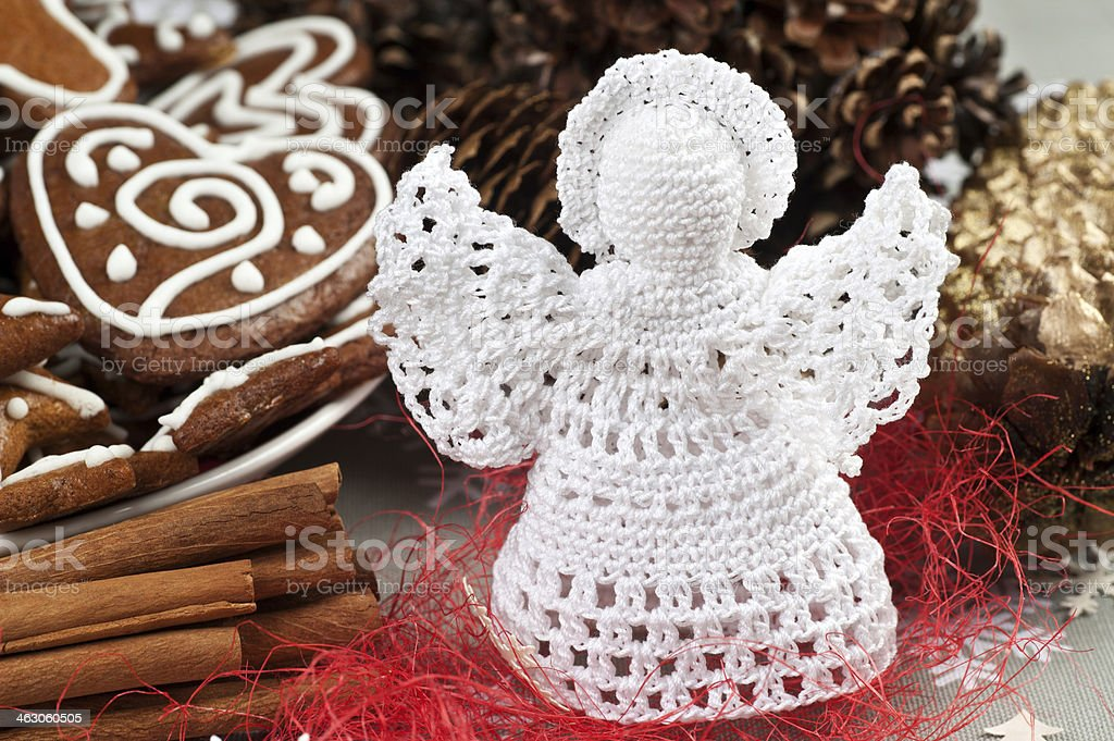 Crochet angel stock photo