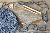 Crochet Background With Copy Space