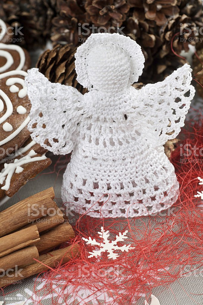 Crochet Christmas Angel stock photo