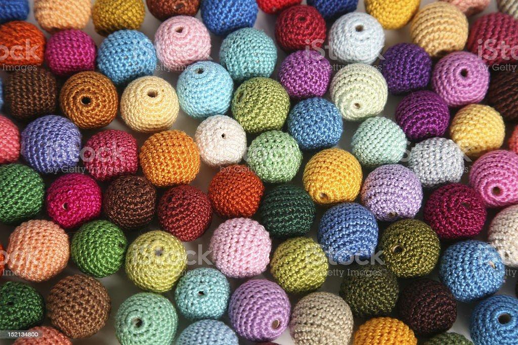 Crochet cotton beads stock photo