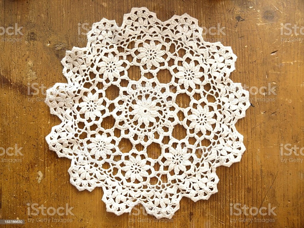 Crochet Doily royalty-free stock photo
