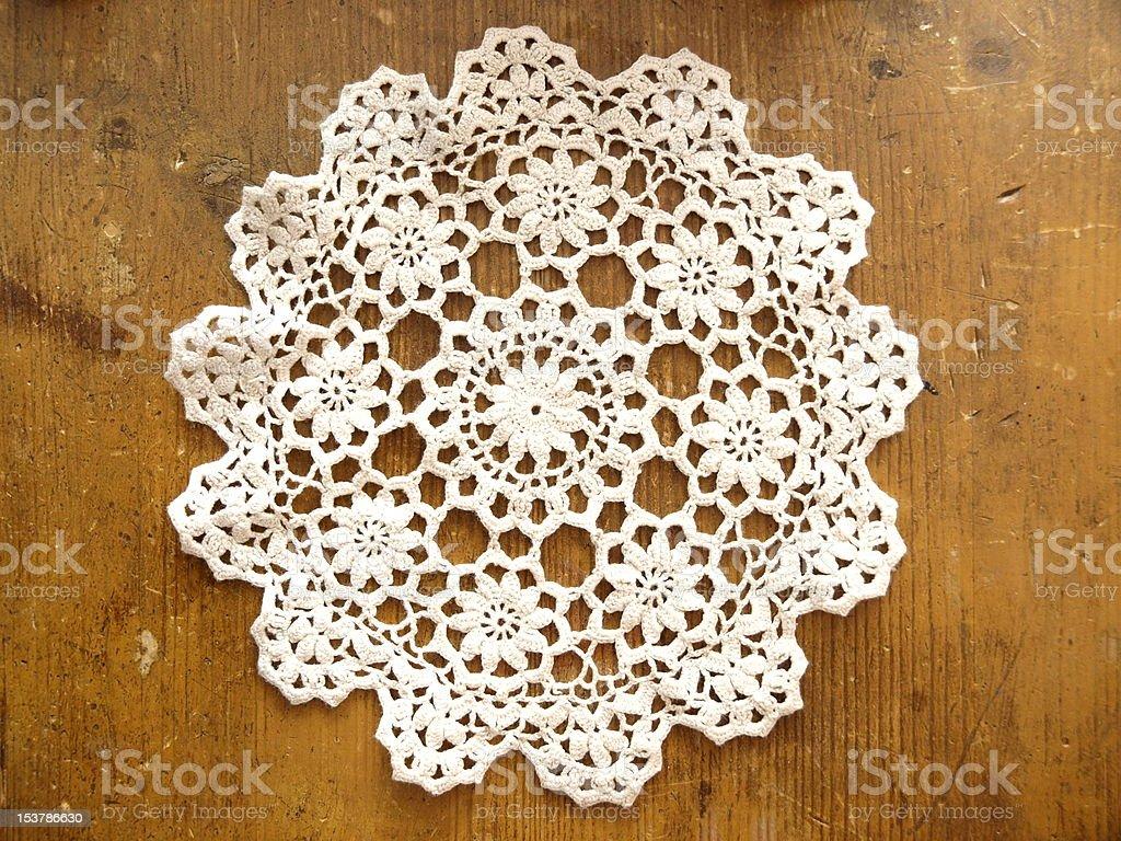 Crochet Doily stock photo