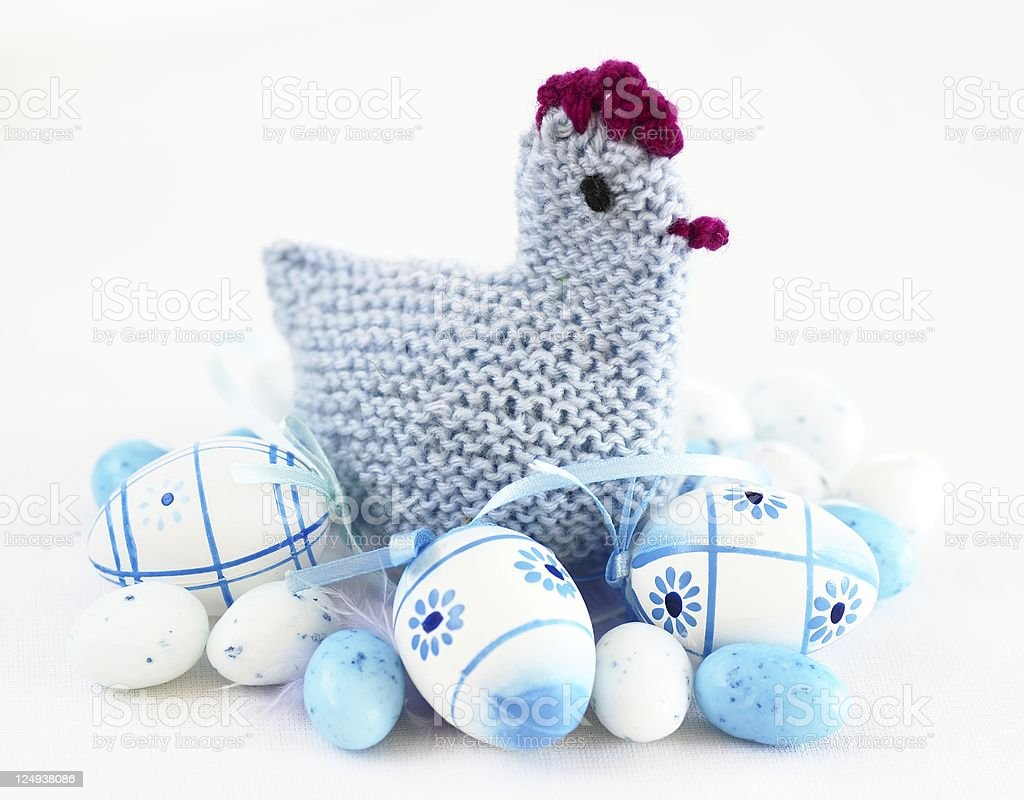 Crochet easter decoration royalty-free stock photo