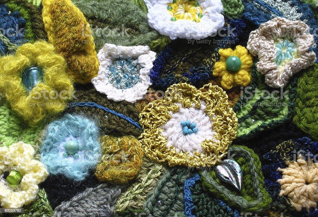 Crochet Flowers royalty-free stock photo