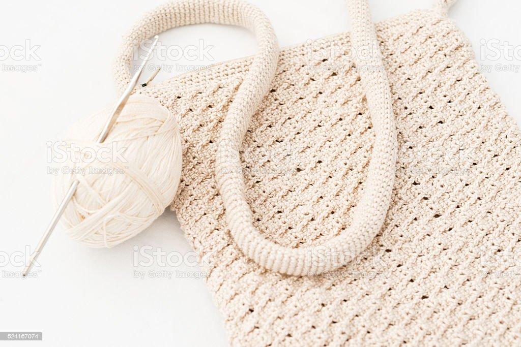Crochet knitting yarn stock photo