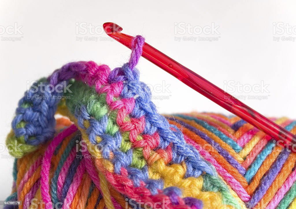 Crochet pattern stock photo