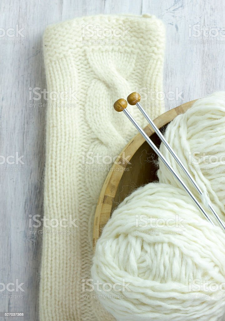 Crochet - weaving technique to work with yarn or string stock photo