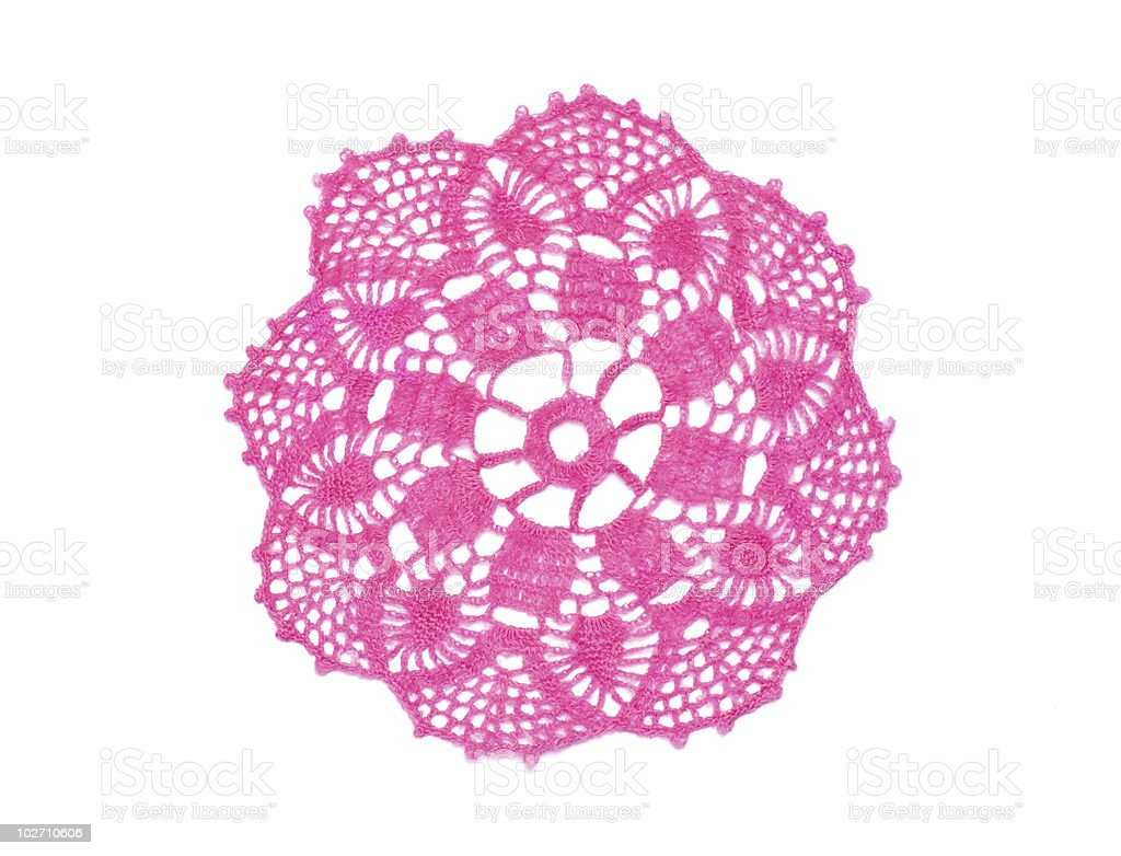 Crocheted doily royalty-free stock photo