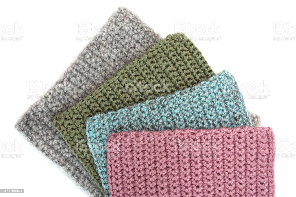 Crocheted geometric patterns royalty-free stock photo