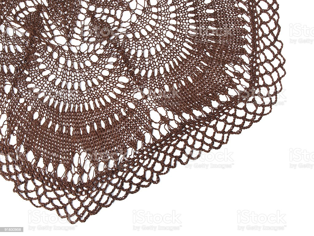 crocheted tablecloth royalty-free stock photo