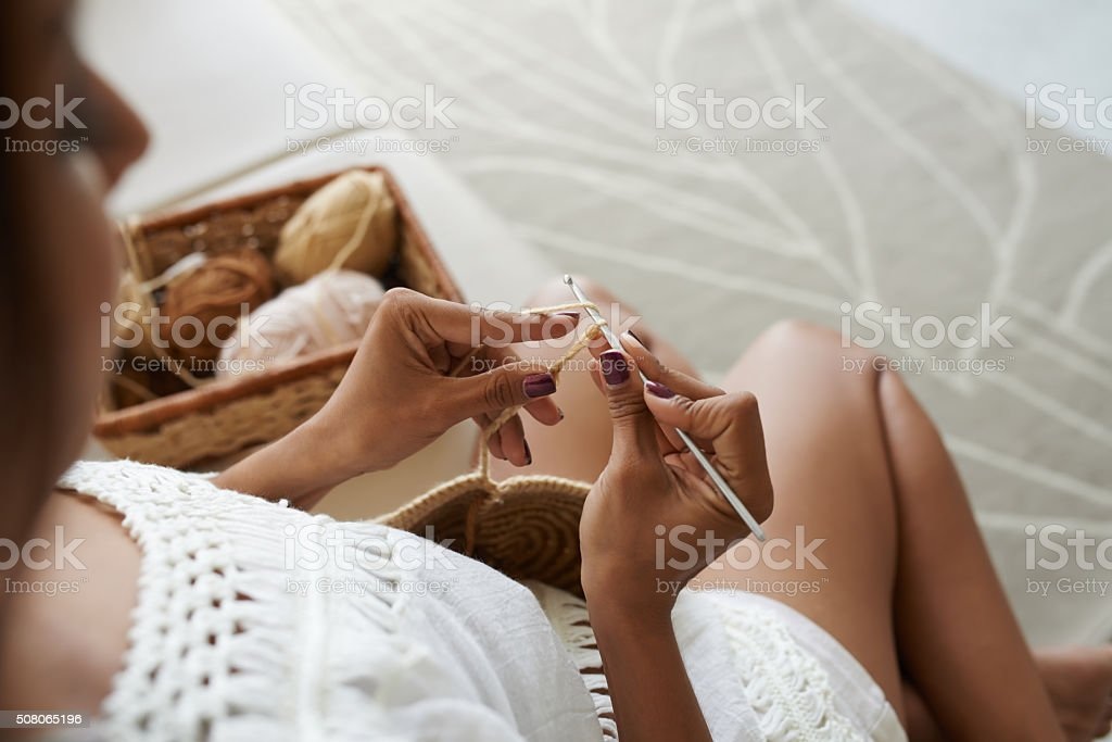 Crocheting stock photo