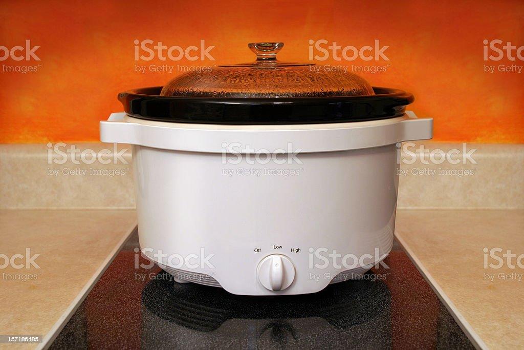 Crock Pot Cooking stock photo