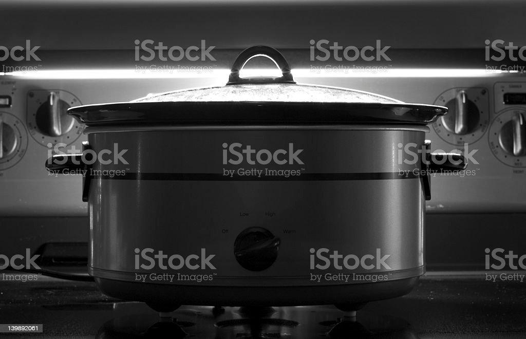 Crock pot stock photo