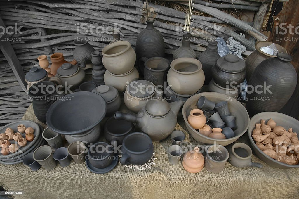 Crockery. royalty-free stock photo