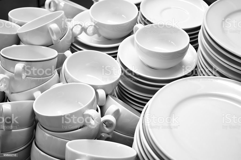 crockery royalty-free stock photo
