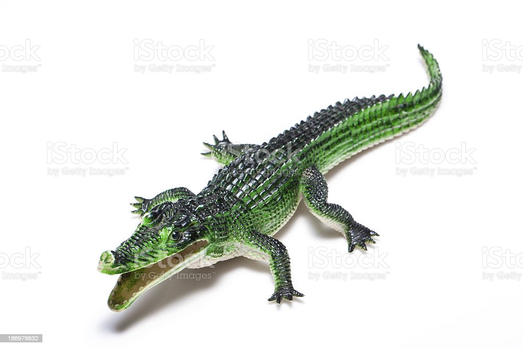 Crocodile toy royalty-free stock photo