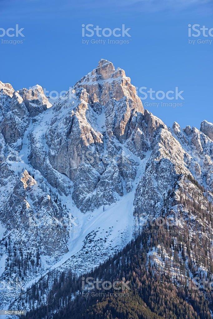 Croda dei Baranci stock photo