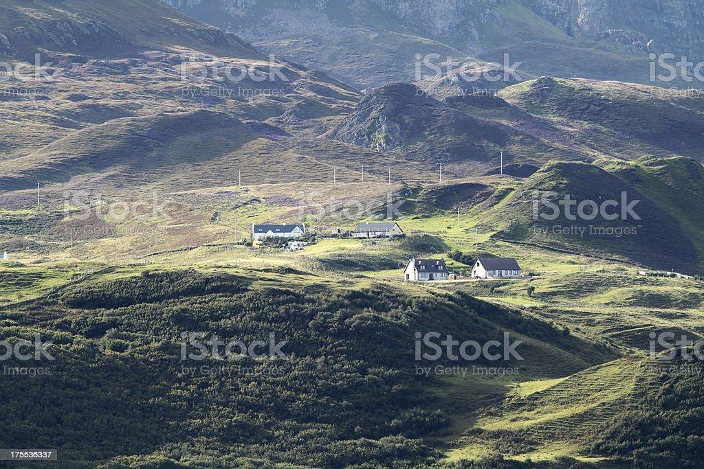 Croft cottages, Isle of Skye stock photo