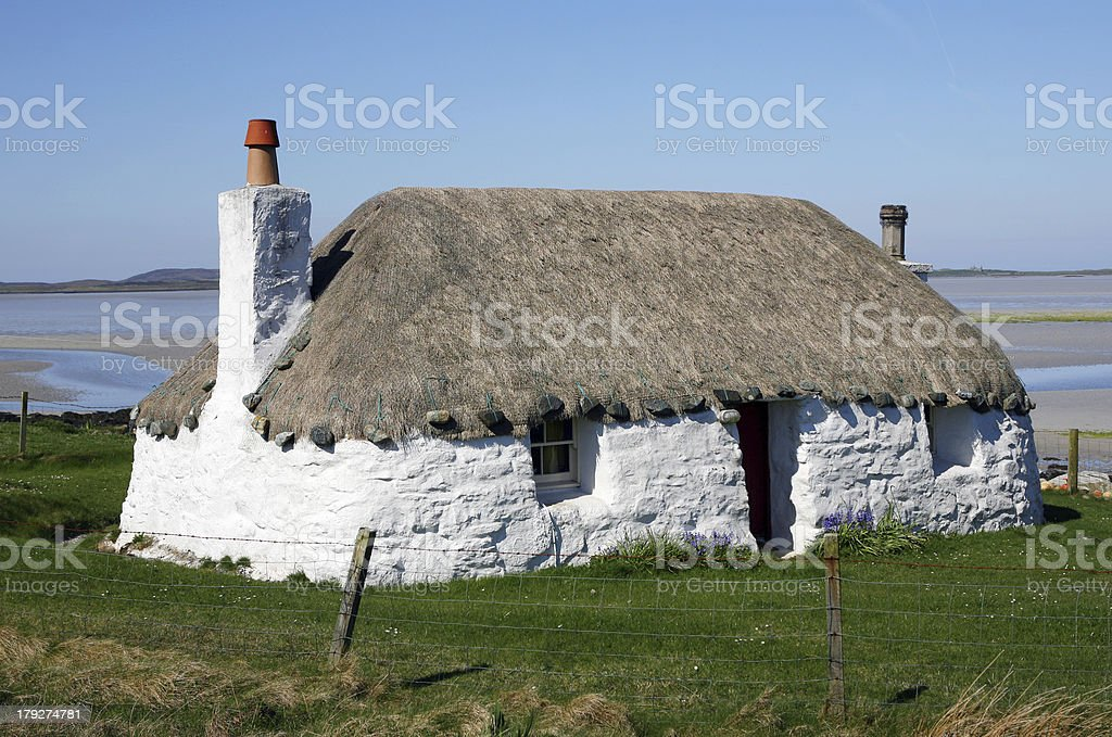 Crofter's Cottage stock photo