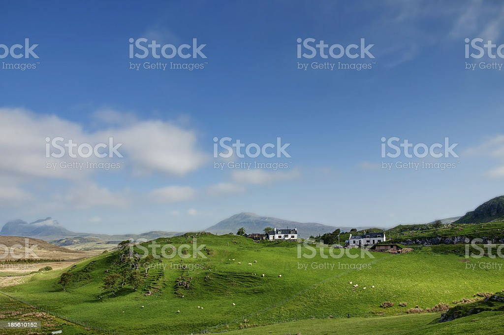 Crofts and Highlands stock photo