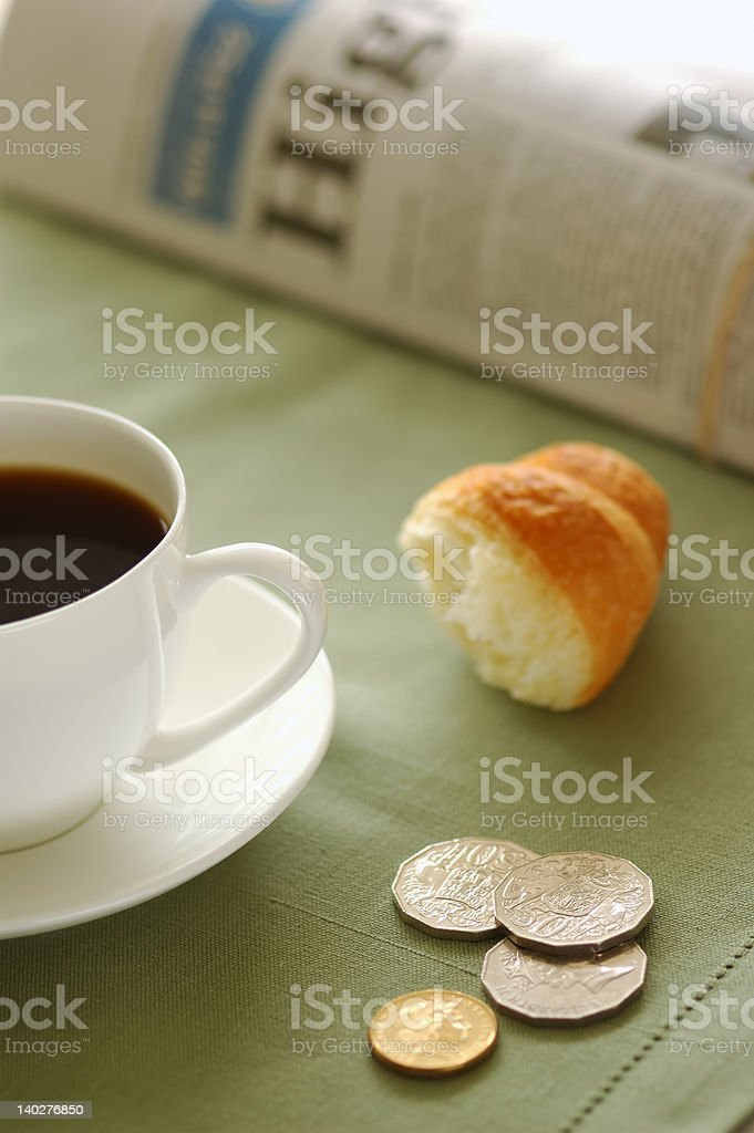 Croissant and coffee 07 royalty-free stock photo