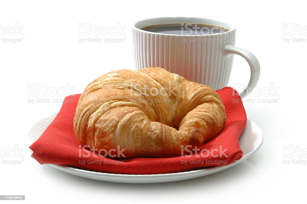 Croissant and Coffee stock photo