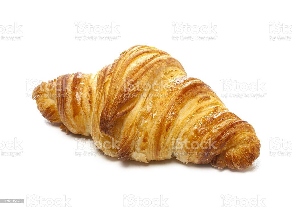 Croissant au beurre stock photo