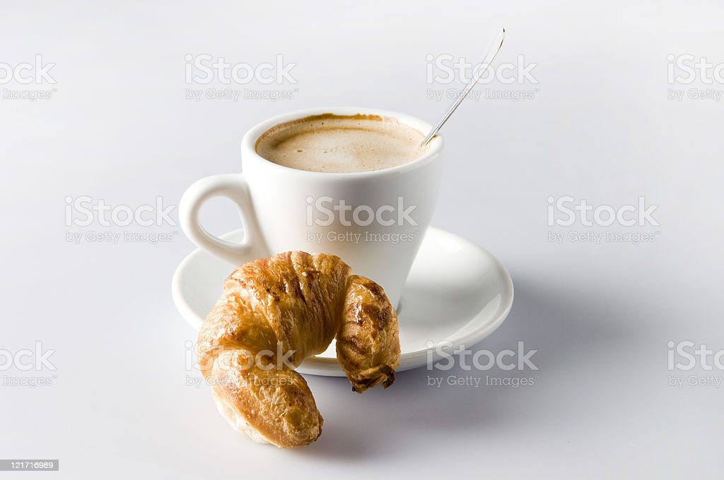 Croissant Breakfast. stock photo