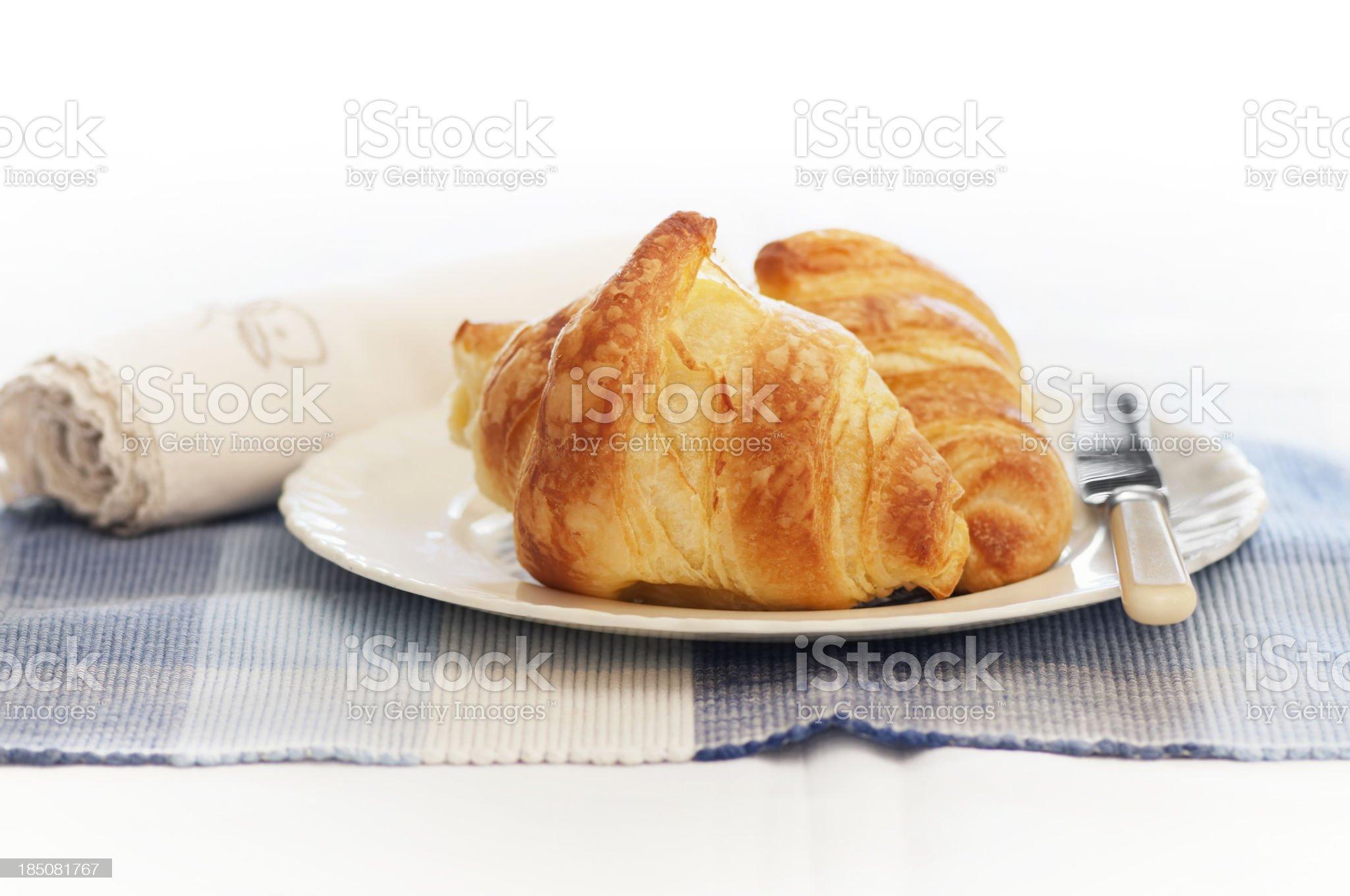 Croissant breakfast royalty-free stock photo