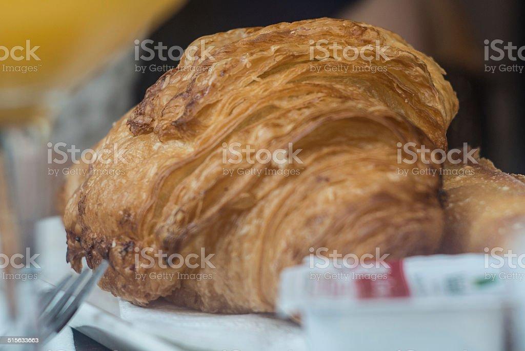 Croissant, Breakfast stock photo