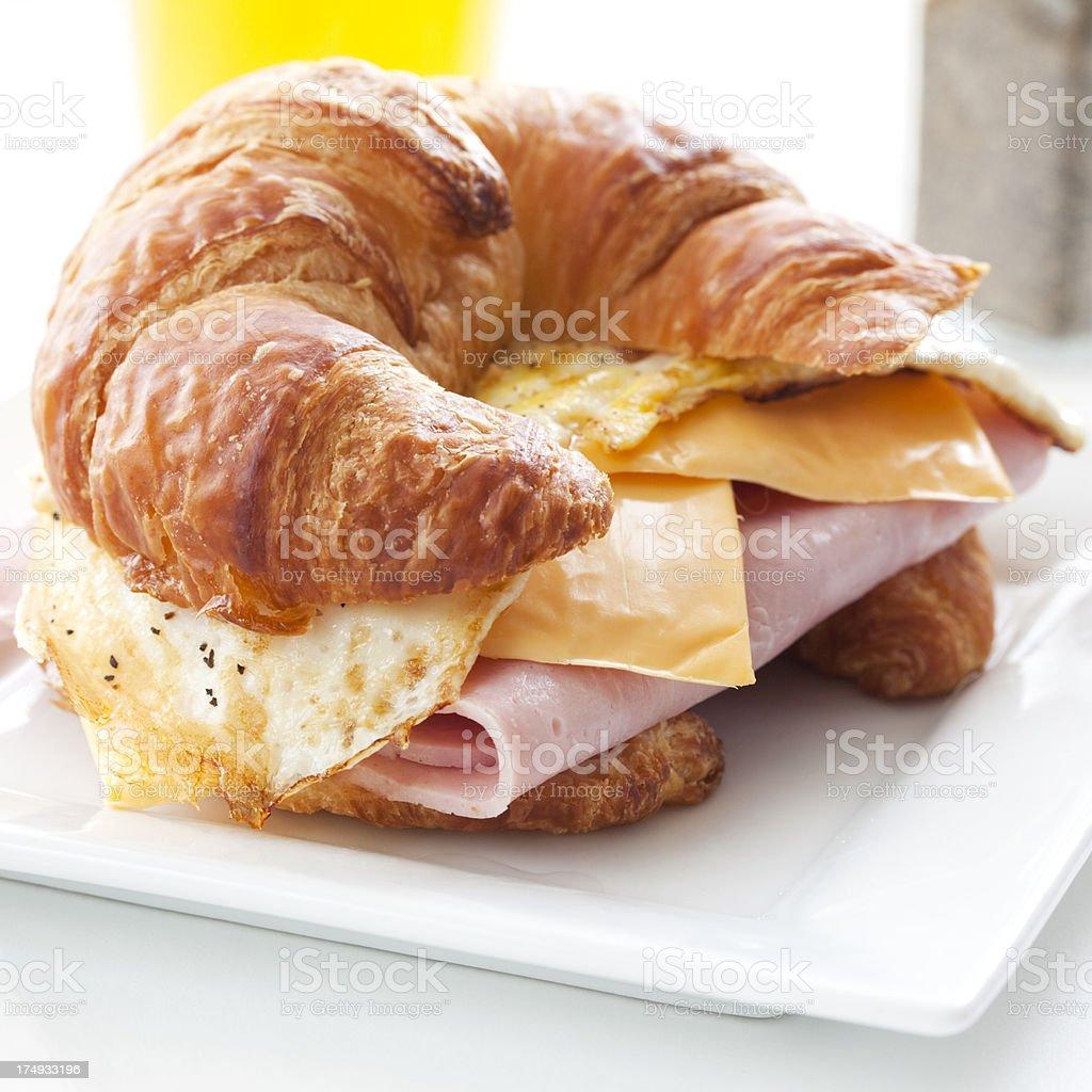 Croissant Breakfast Sandwich royalty-free stock photo