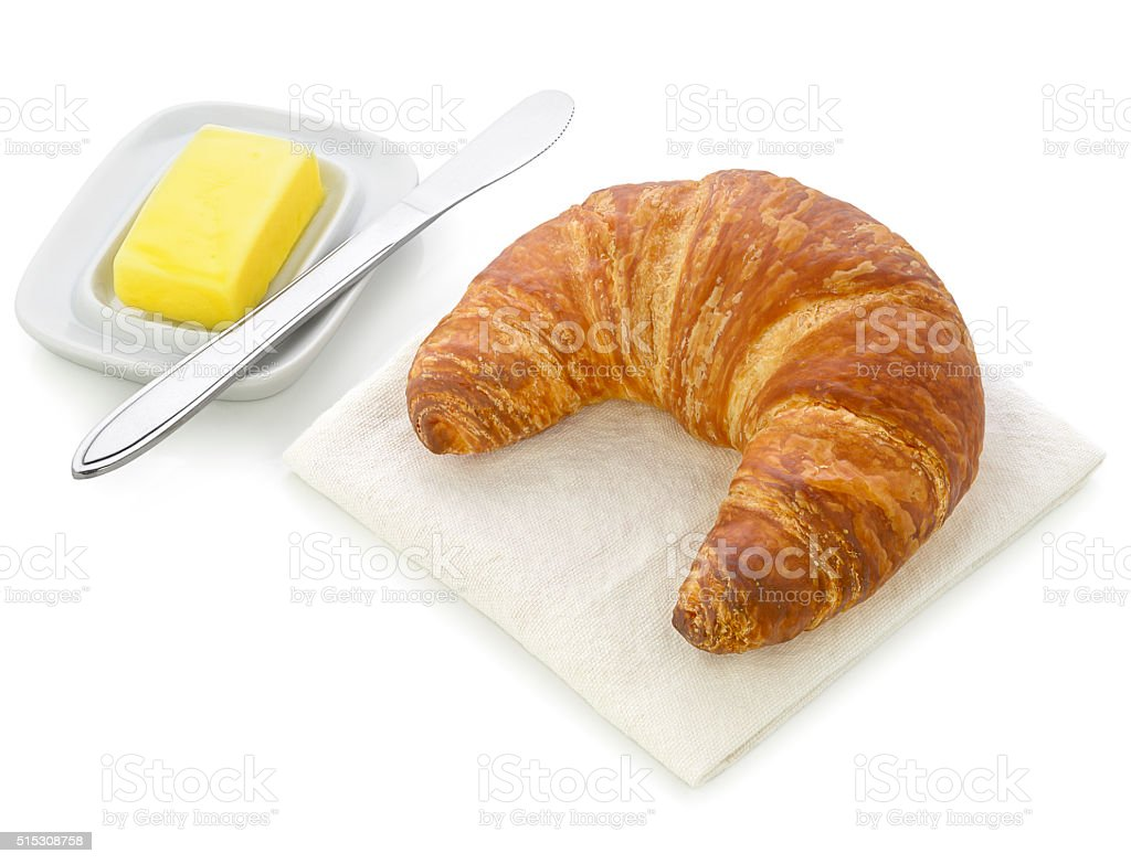 Croissant & Butter stock photo