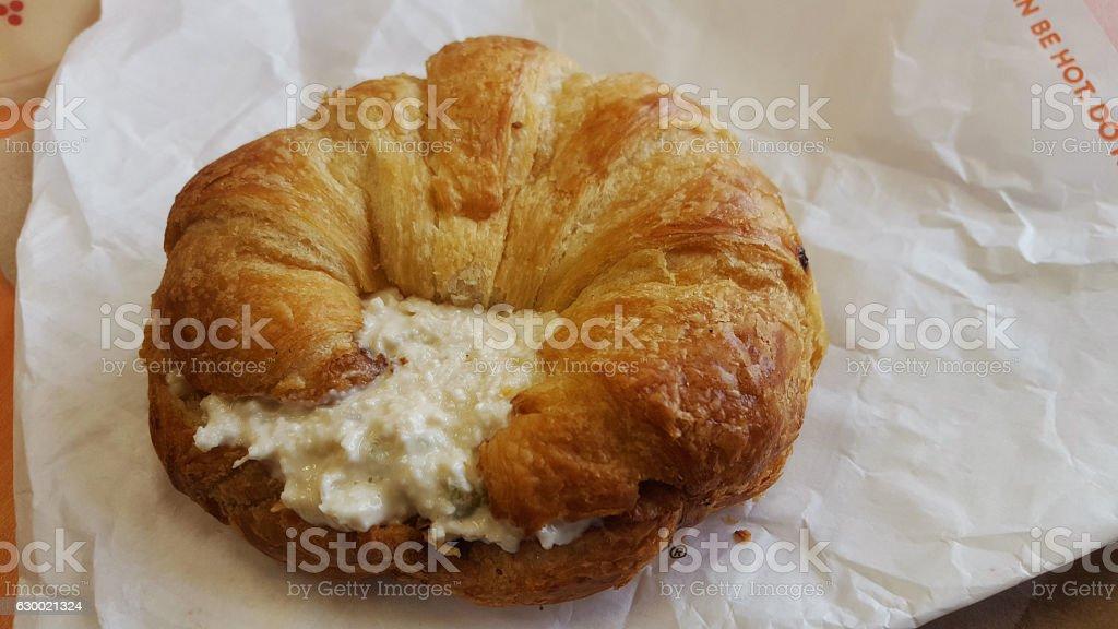 croissant chicken salad sandwich, stock photo