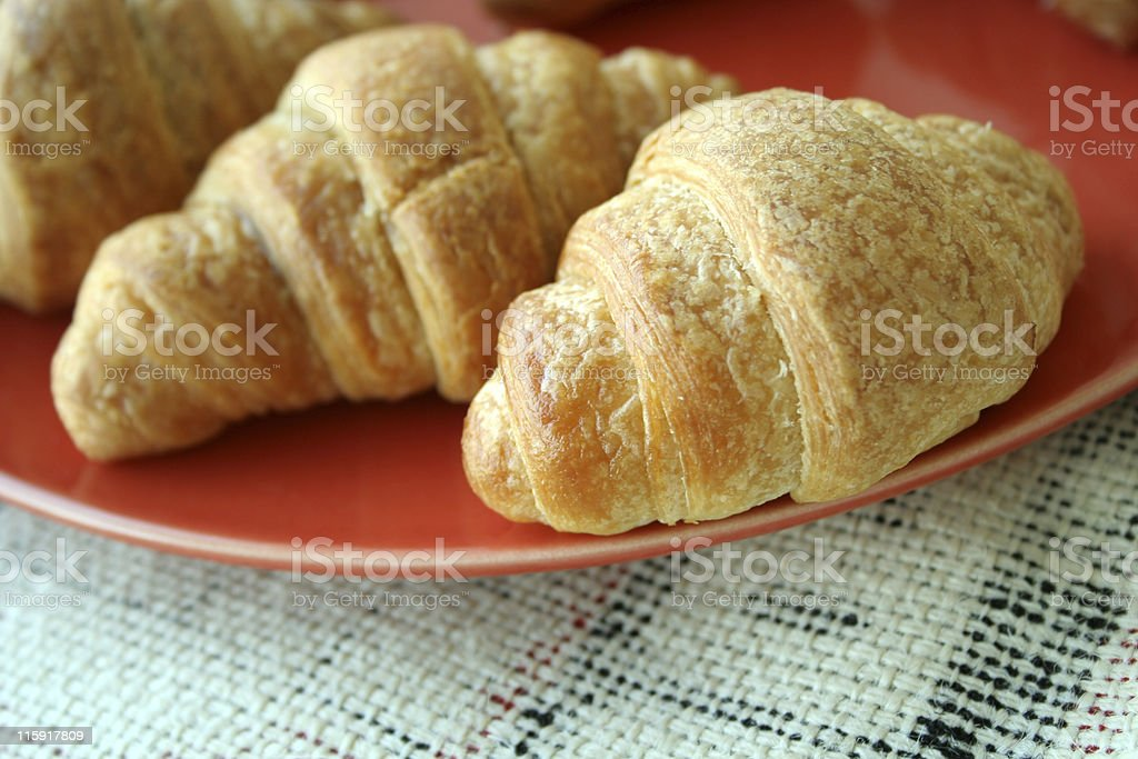 croissant in dish royalty-free stock photo