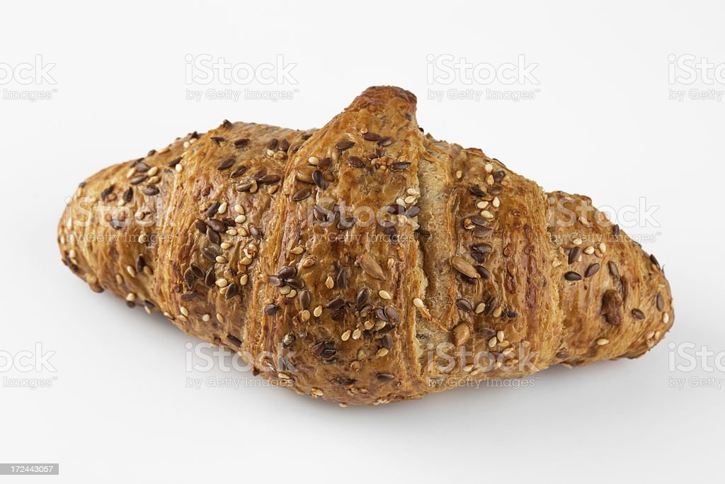 Croissant isolated on white royalty-free stock photo