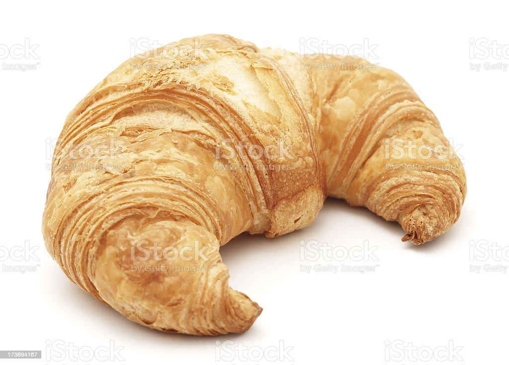 Croissant isolated on white stock photo