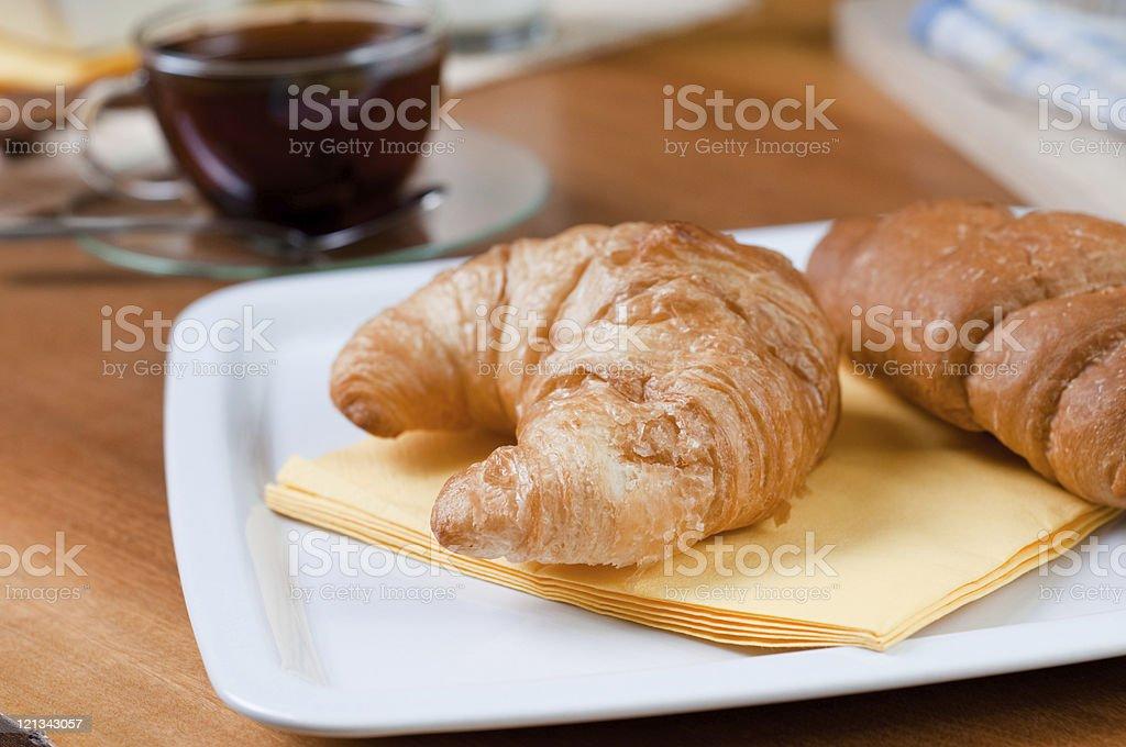croissant on breakfast royalty-free stock photo