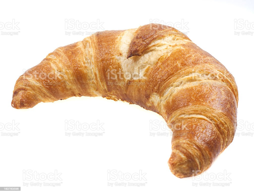 croissant on white background royalty-free stock photo