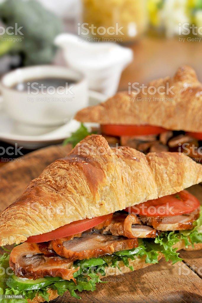 Croissant sandwich royalty-free stock photo