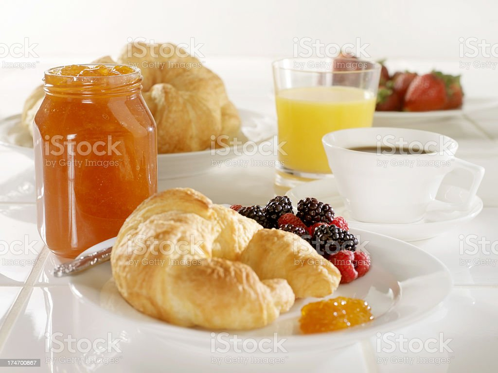 Croissant with Apricot Jam royalty-free stock photo
